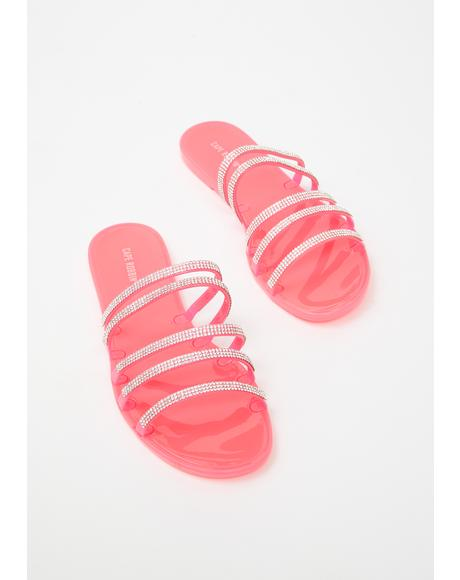 Candy Everyday Drip Rhinestone Sandals