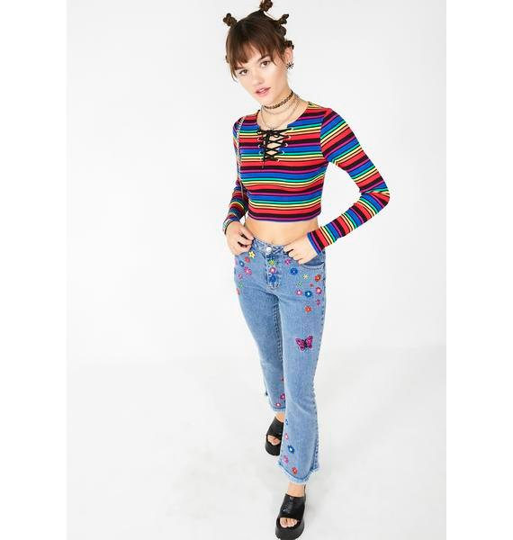 dELiA*s by Dolls Kill Crazy Town Crop Top