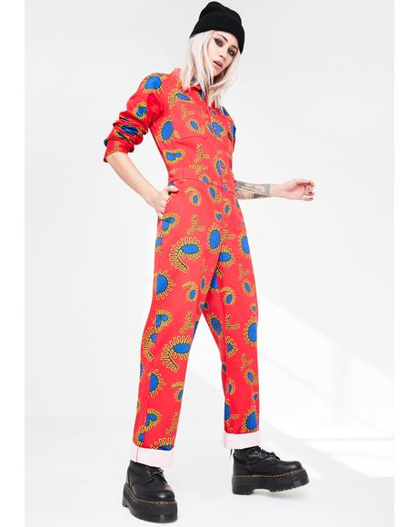 Paisley Print Coveralls
