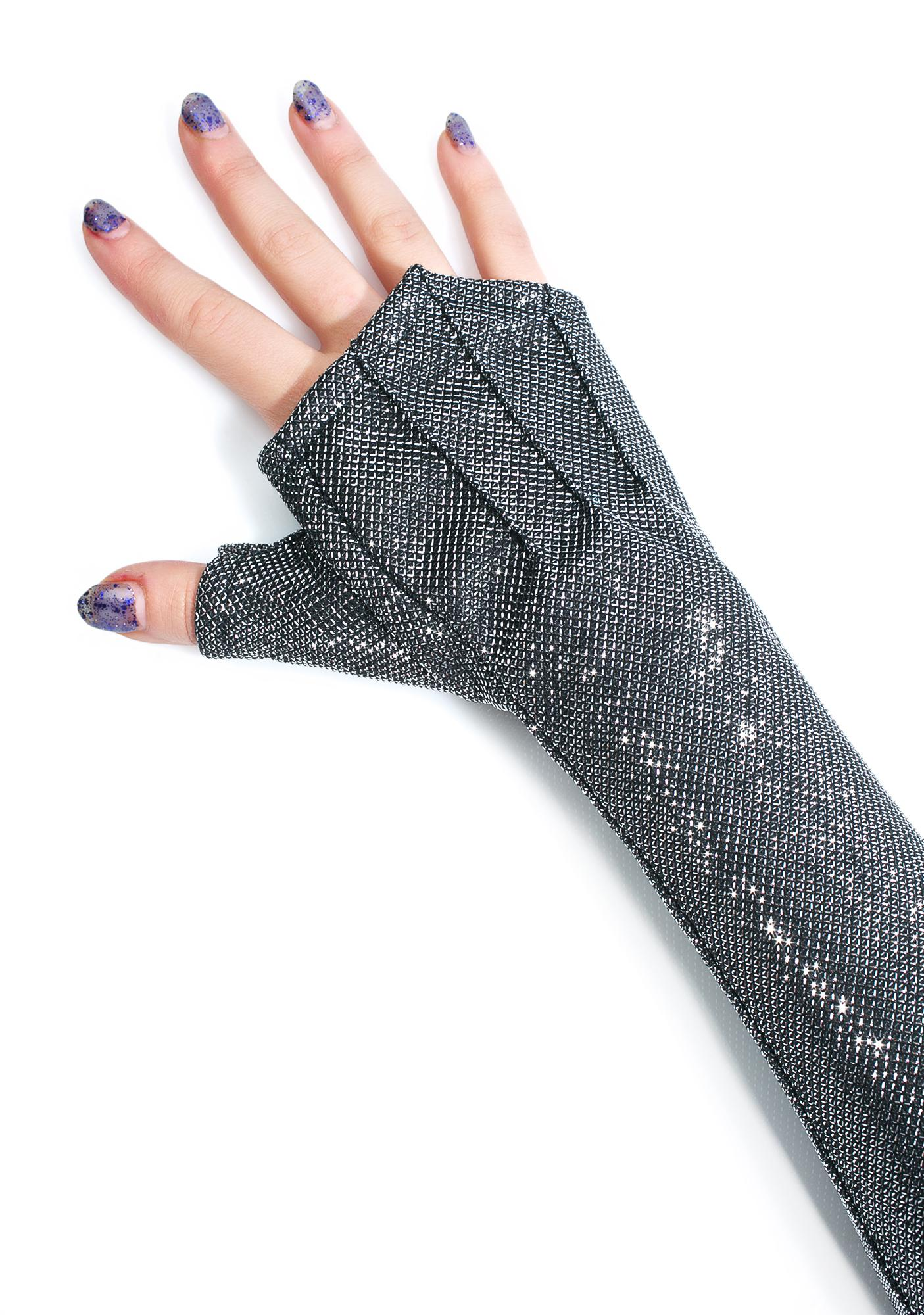 Five and Diamond Long Opera Gloves