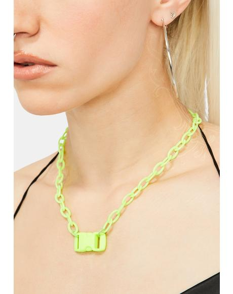 Breaking Rules Buckle Necklace