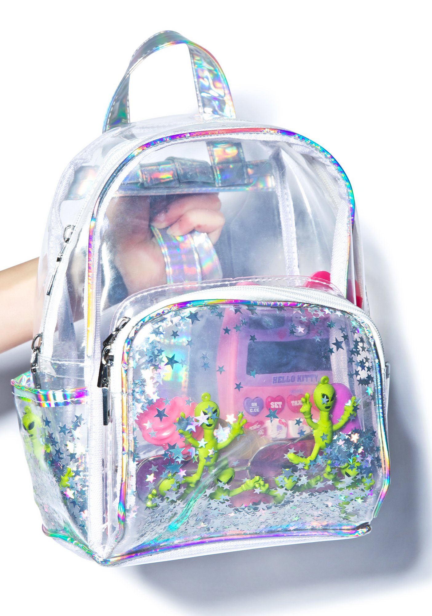 Holographic Clear Aliens Backpack