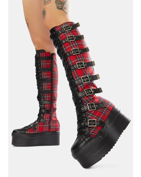 Hella Good Knee High Flatform Boots