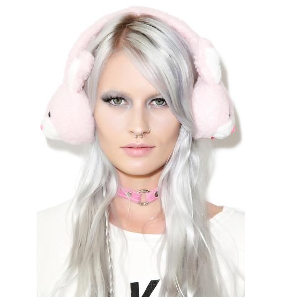 Don't Worry, Be Hoppy Plush Earmuffs