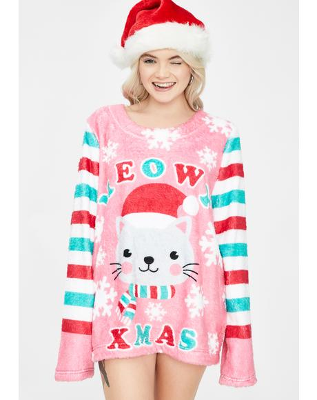 Feline Jolly Holiday Sweater