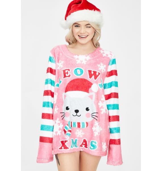 Feline Jolly Holiday Sweater