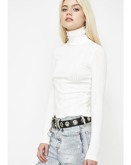 Icy After The Storm Turtleneck Sweater