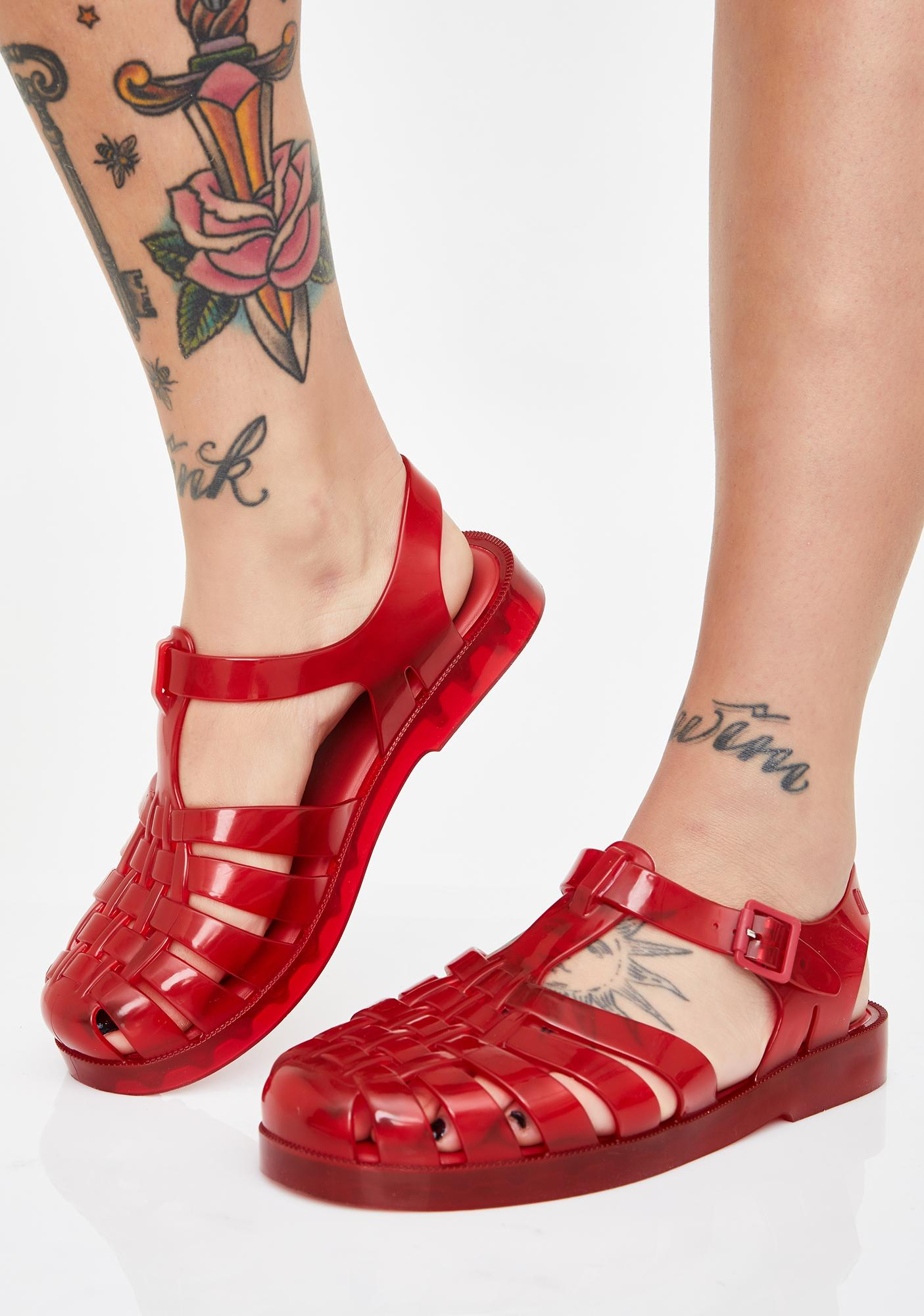 Scarlet Possession Jelly Sandals