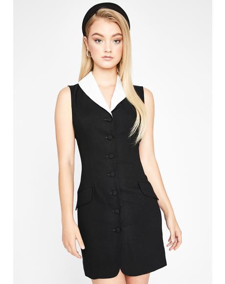 Legally Cute Blazer Dress