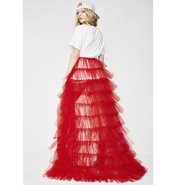Kiki Riki Lit Royal Bow Tutu Maxi Skirt