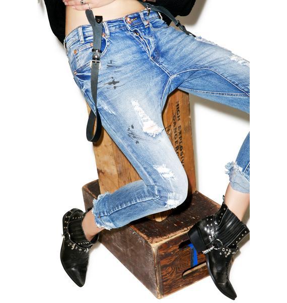 One Teaspoon Kidds Distressed Jeans
