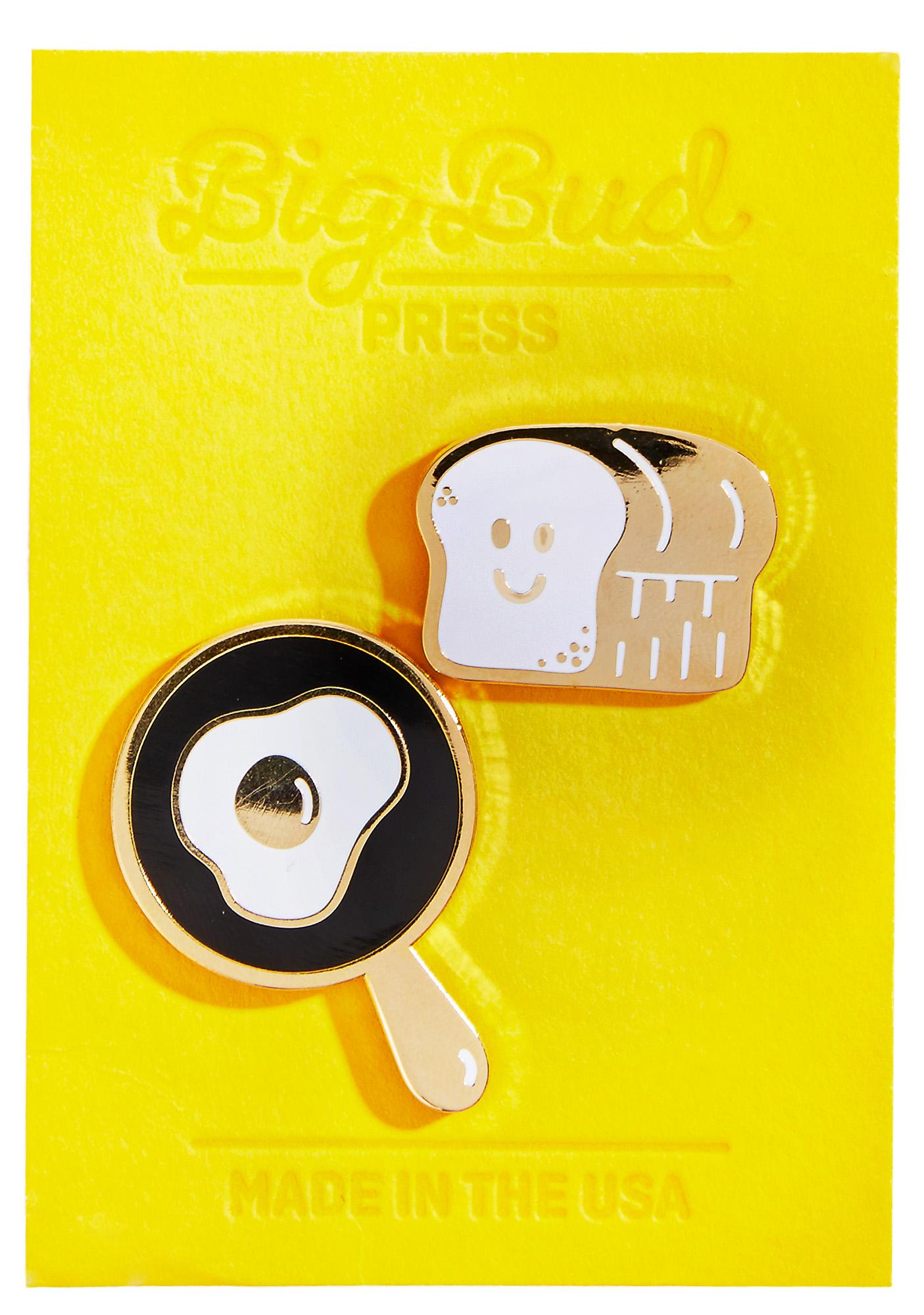 Big Bud Press Eggs And Toast Pin Set