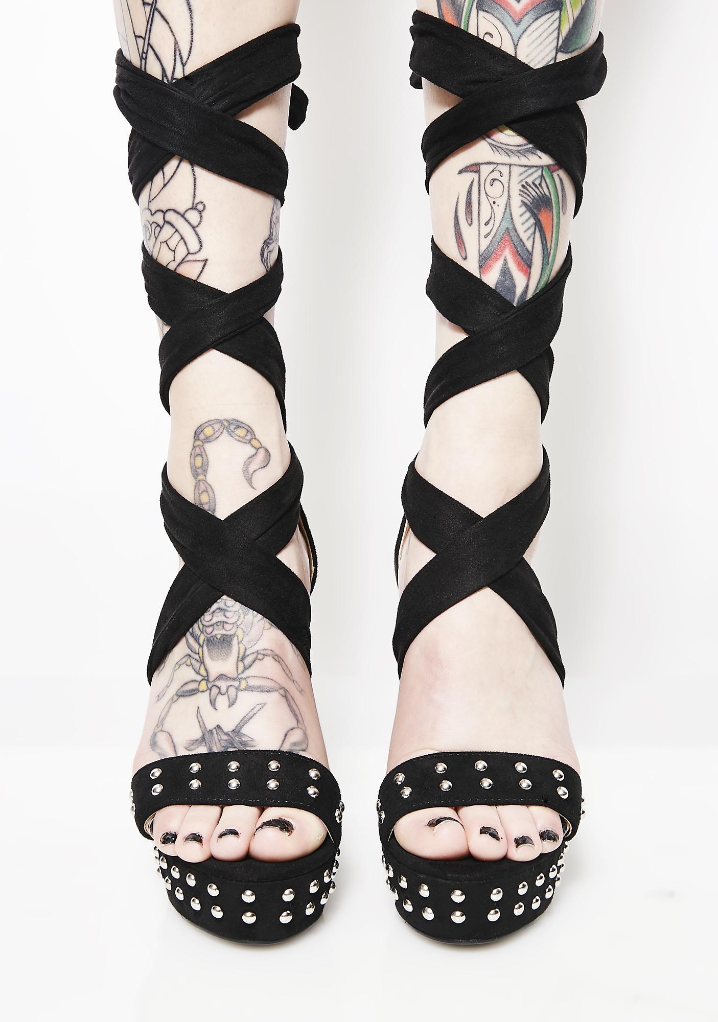 Twisted Mind Studded Heels