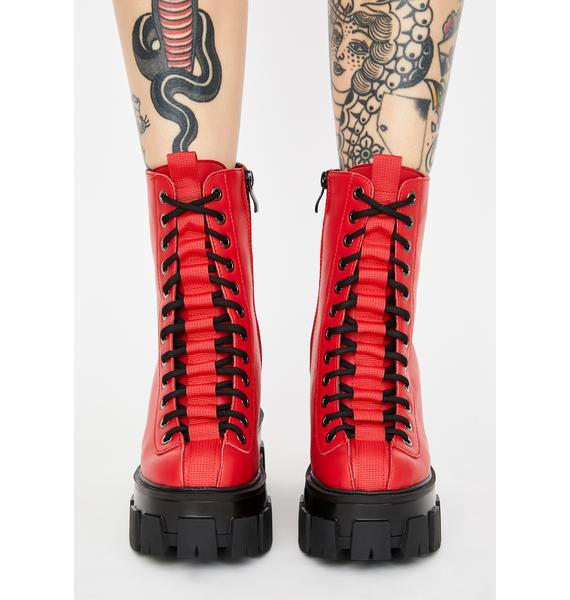 Flame Sour Diesel Platform Boots