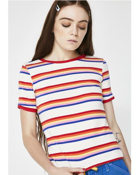 Cali Sunshine Striped Tee