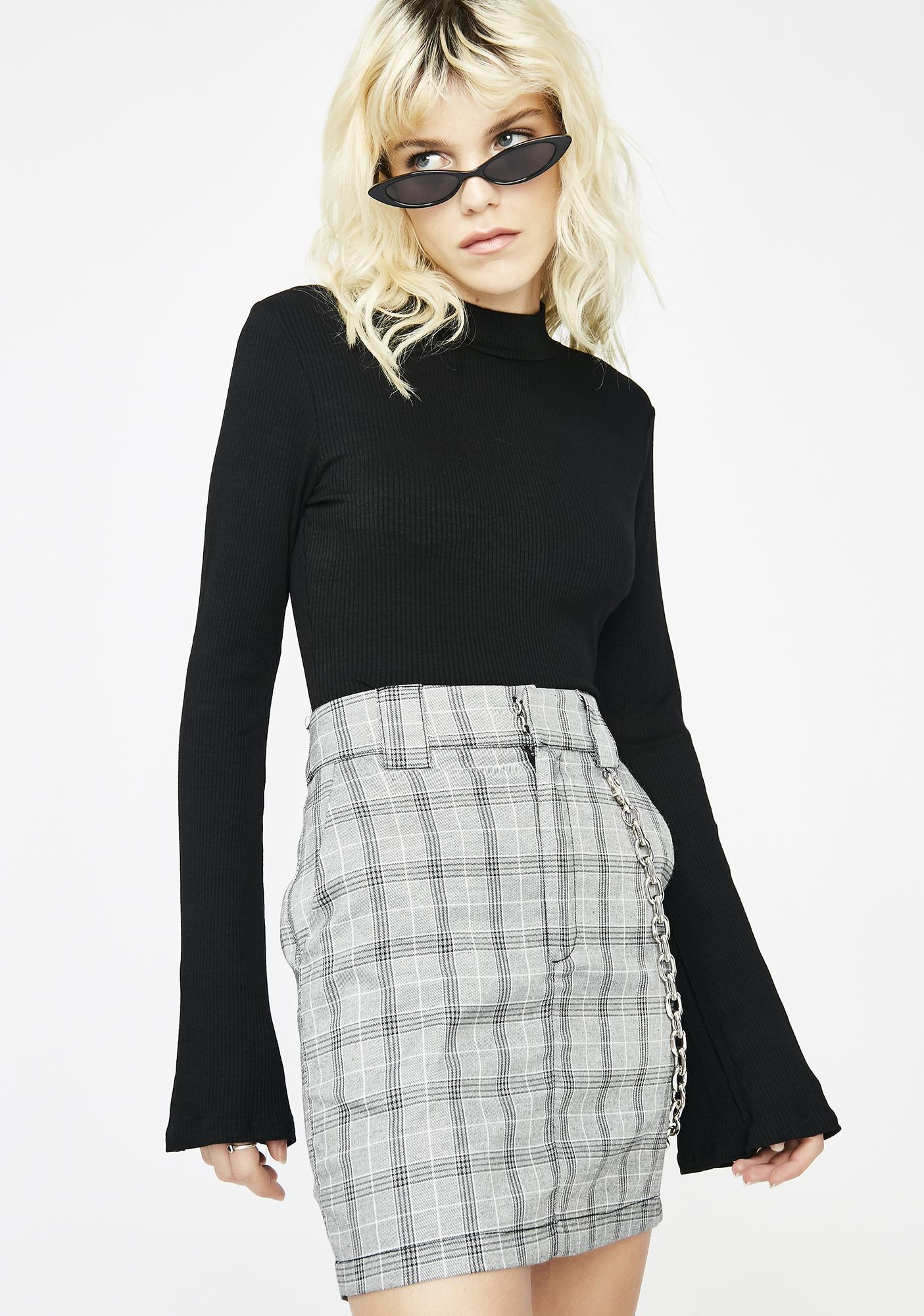 Whatever Loser Plaid Skirt