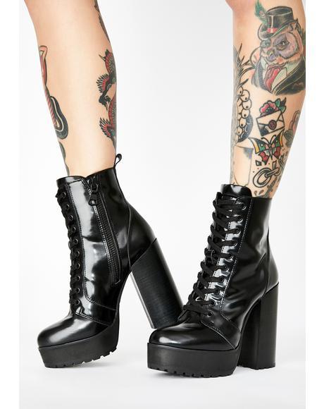 Lear Black Box Platform Boots