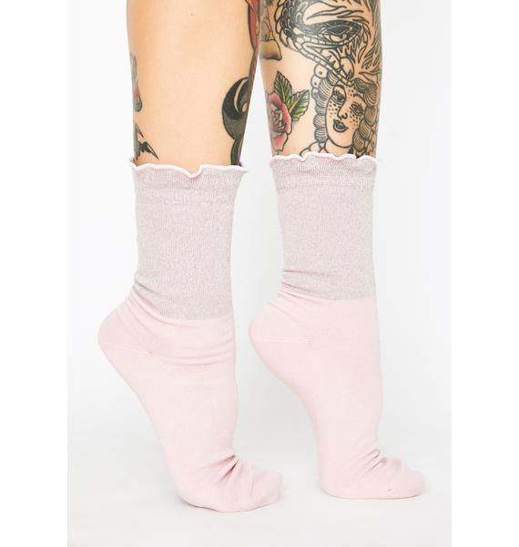 Dr. Martens Iridescent Ruffle Socks