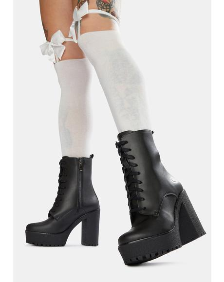 Ivy Heeled Vegan Leather Boots