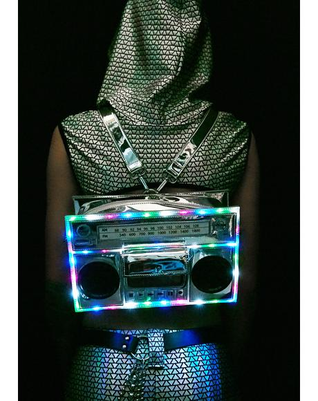 Boombox Light-Up Bag