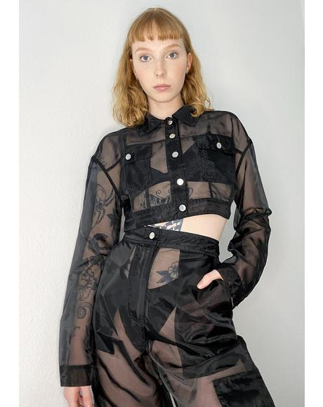Take My Chances Organza Jacket