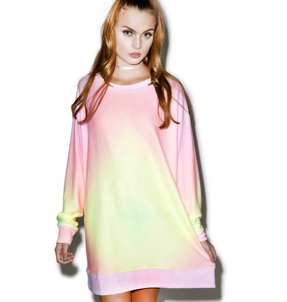 Wildfox Couture Rainbow Brite Roadtrip Sweater Dress