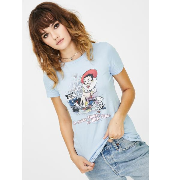 Trevco Betty Boop So Many Shoes Graphic Tee