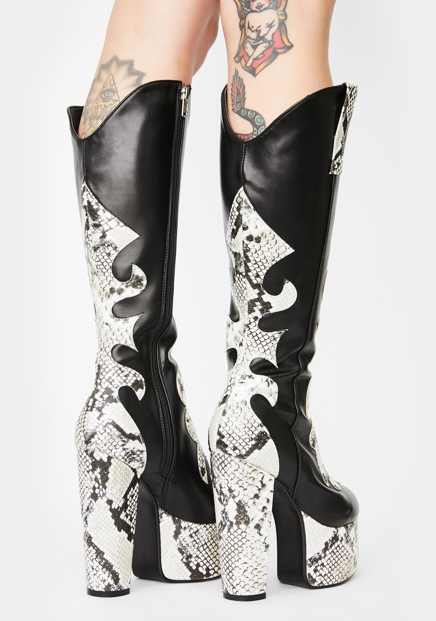 Lamoda Blind Love Snakeskin Boots