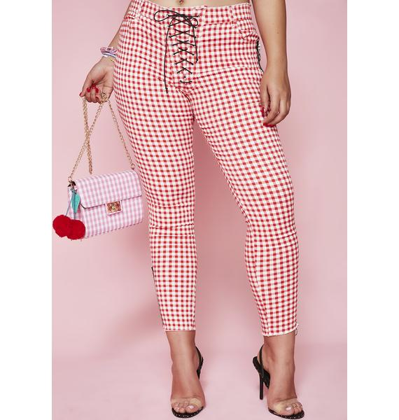 Sugar Thrillz Always Sassy Lace-Up Pants