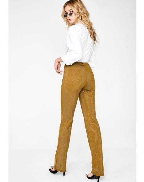Gold Mariah Pants