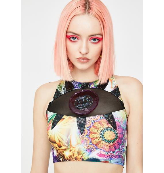 J Valentine Mystic Eyeball Crop Top