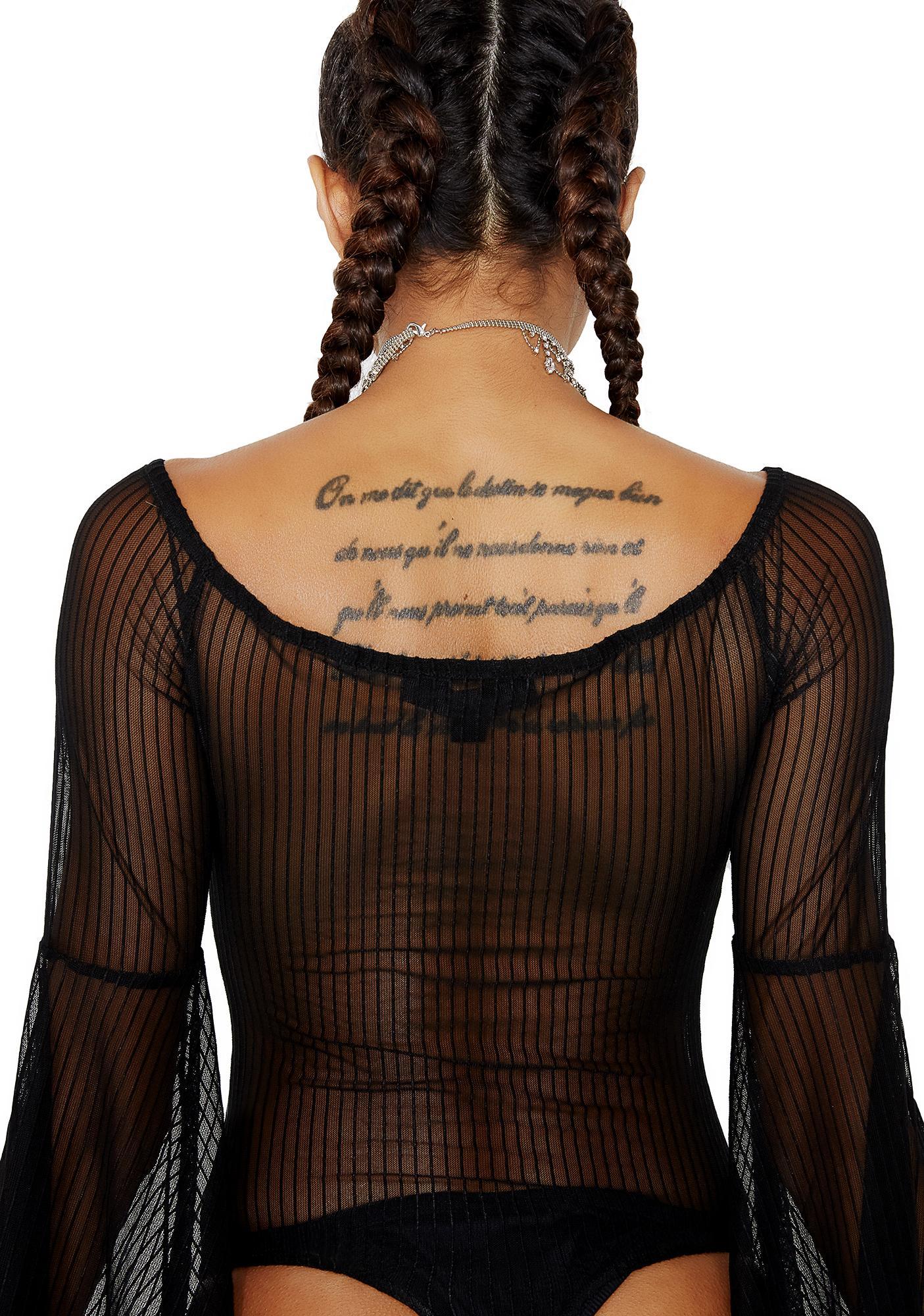 Fine Lines Pinstriped Bodysuit