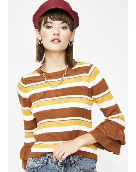 Hometown Hottie Stripe Sweater