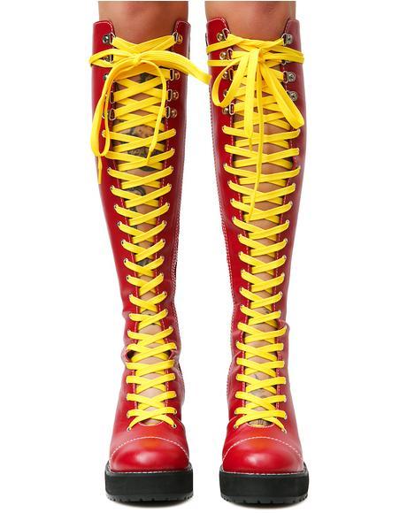 Victoria Lacing Boots