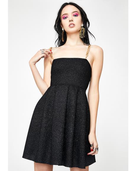 Glitter Chain Strap Dress
