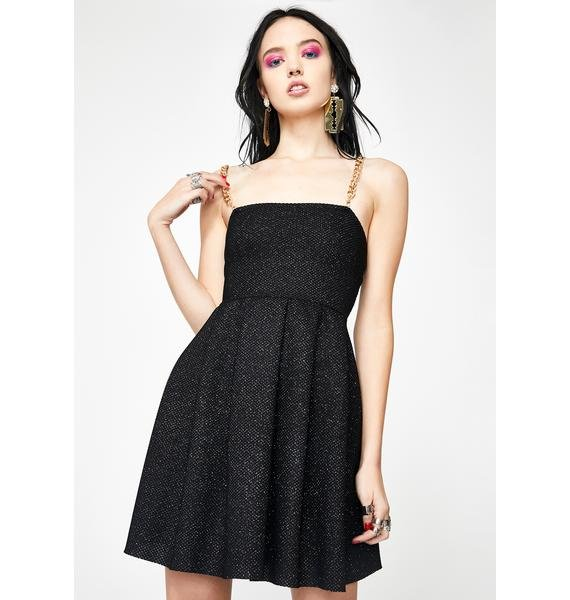 NEW GIRL ORDER Glitter Chain Strap Dress