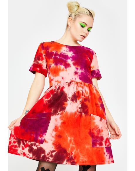 Tie Dye Corduroy Dress