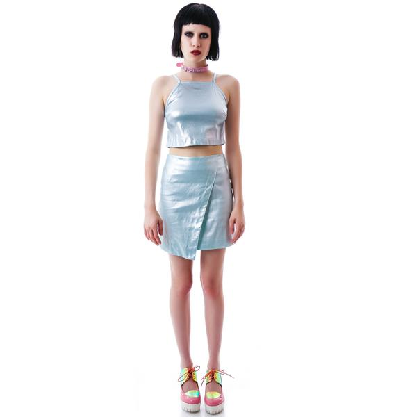 Motel Missouri Metallic Skirt