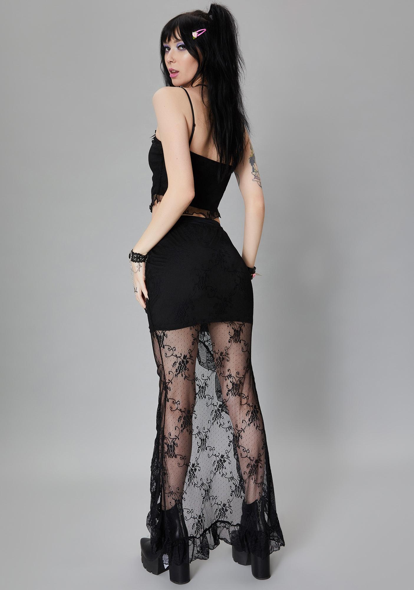 Widow Love Spell Lace Skirt Set