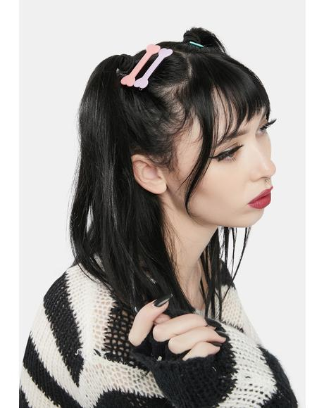 Lil Skelly Pastel Bone Hair Clip Set