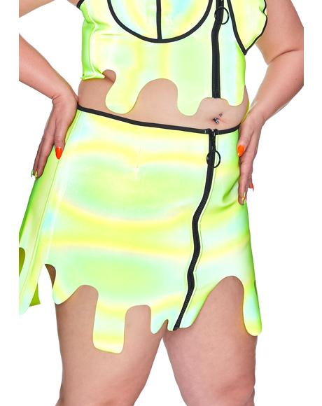 Toxic Slime Zone Reflective Skirt