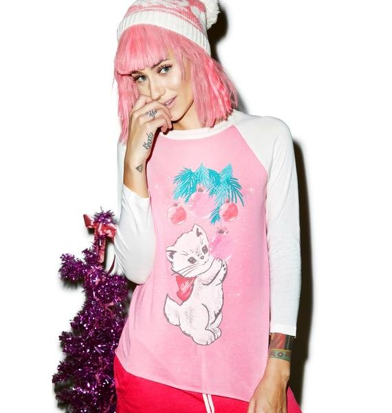 Wildfox Couture Christmas Kitty Lil Bro Raglan