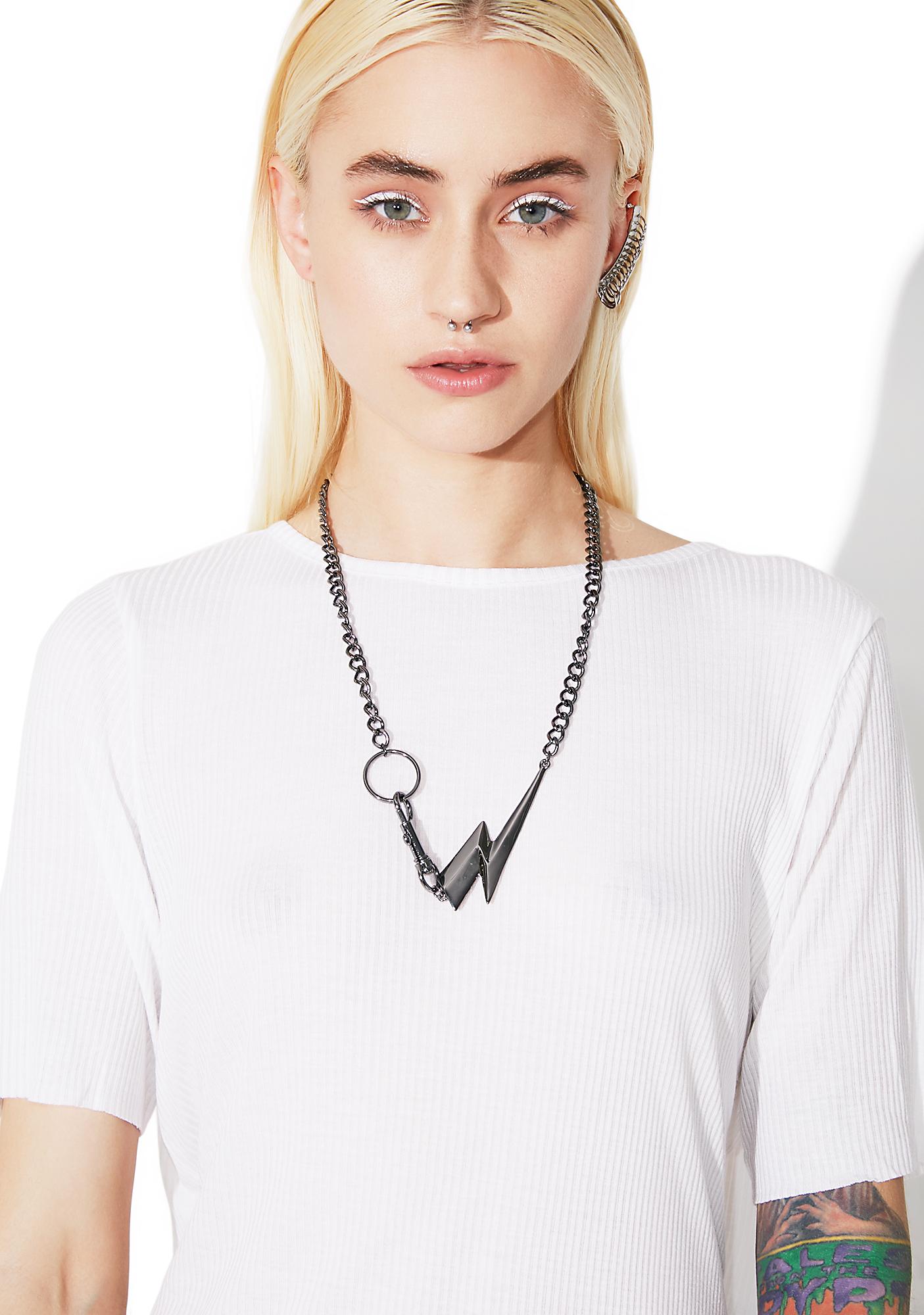 Cheap Monday Bolt Necklace