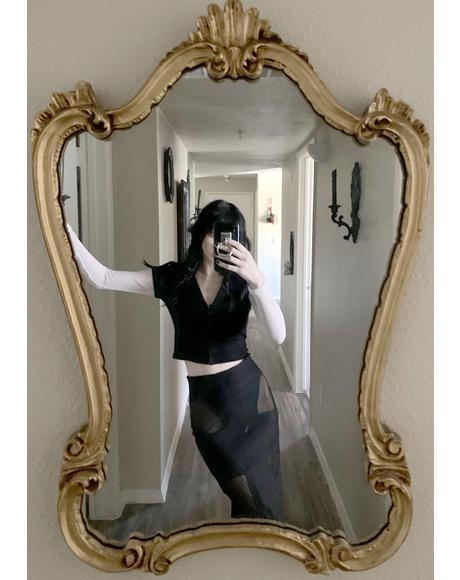 Calypso Mesh Maxi Skirt