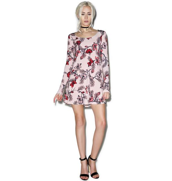 For Love & Lemons Blush Ojai Mini Dress