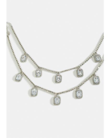 Royal Reward Rhinestone Necklace