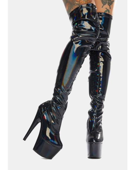 Void Club Strut Thigh High Boots