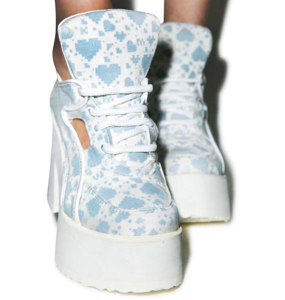 Maria ke Fisherman X Buffalo Digital Love Light Cut-Out Boots