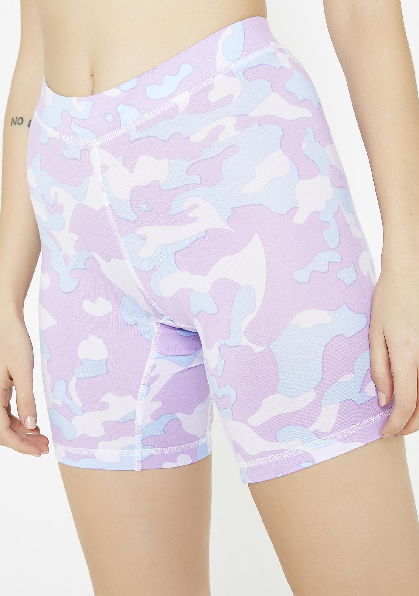 This Is A Love Song Camo Biker Shorts