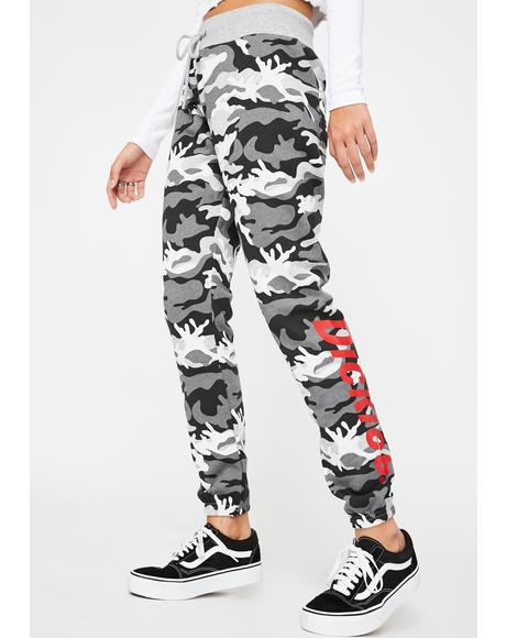 Grey Camo Skinny Joggers